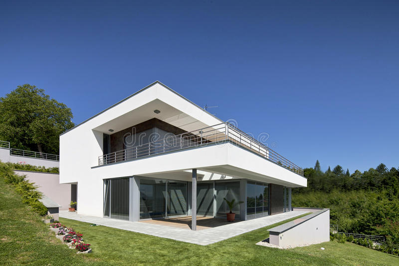 красивейшая дом самомоднейшая стоковые фотографии rf