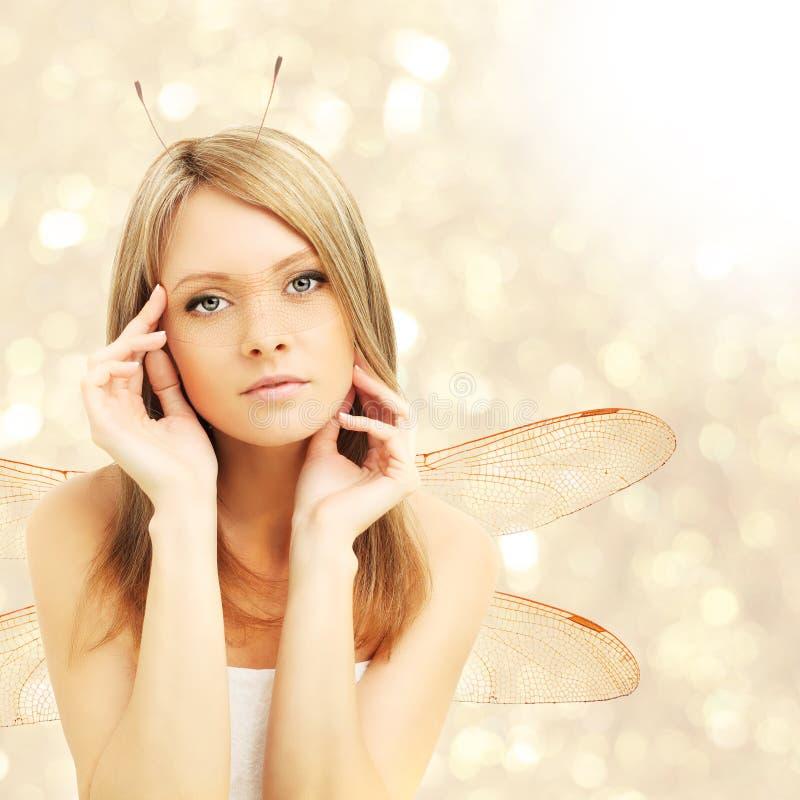 Красивейшая женщина - абстрактная фантазия стоковые фото
