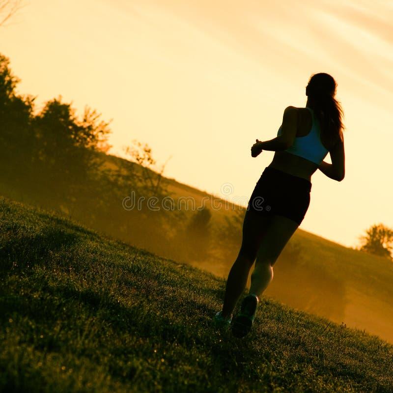 красивейшая женщина бегунка стоковая фотография