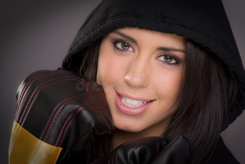 красивейшая женщина боксера стоковое изображение