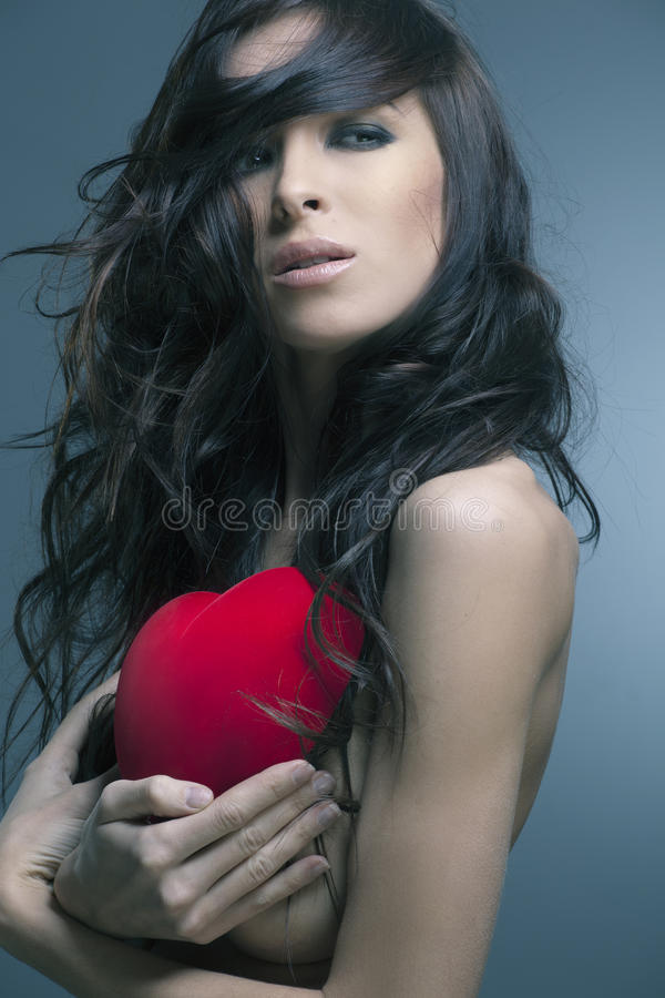 красивейшая женщина Валентайн подарка s дня стоковая фотография