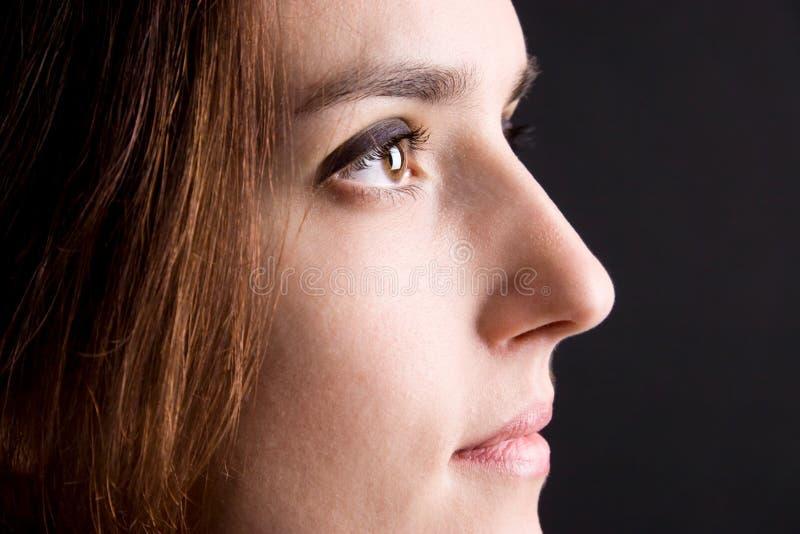 красивейшая женщина взгляда верхней грани стоковое фото