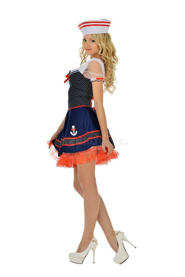 Красивейшая женщина в costume масленицы. стоковое фото rf
