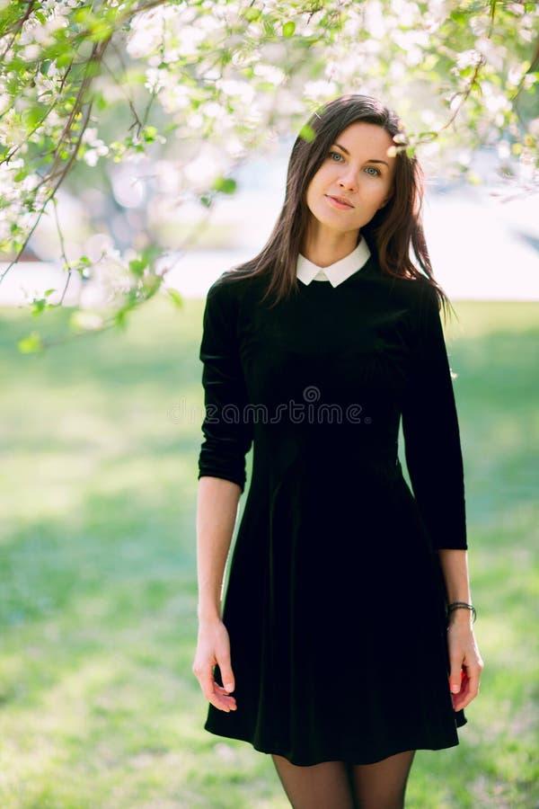 красивейшая женщина парка стоковое фото rf