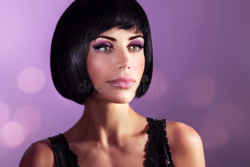 красивейшая женщина портрета способа стоковые фото