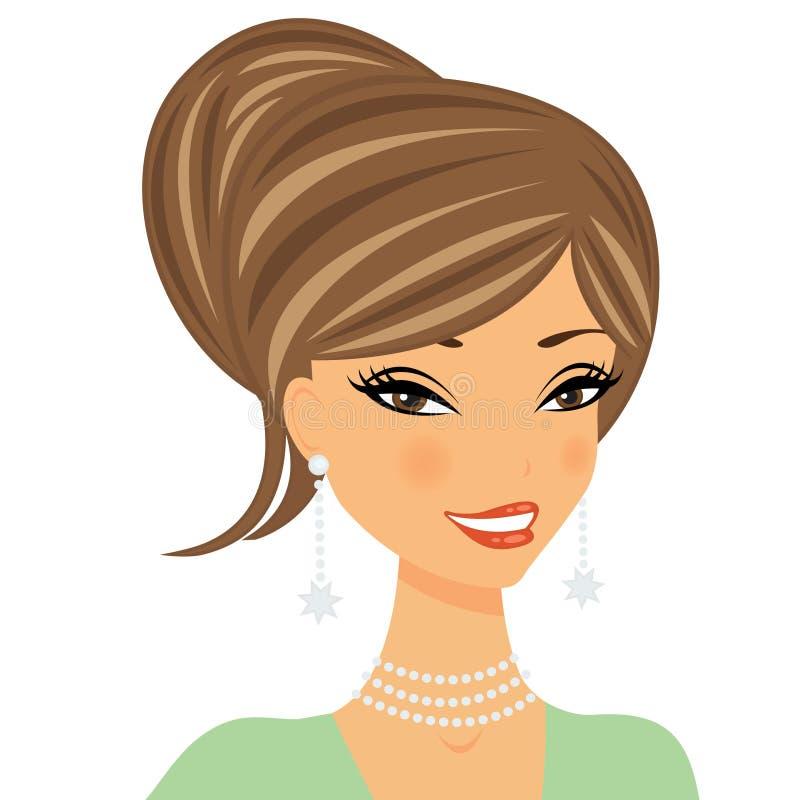 красивейшая женщина портрета иллюстрация вектора