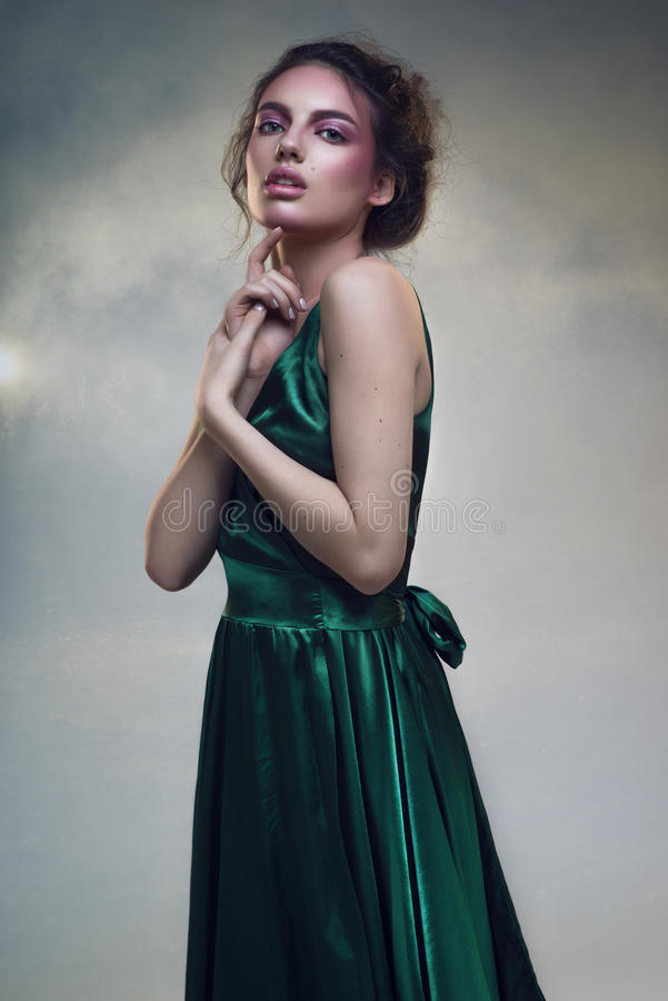 красивейшая женщина портрета стоковое фото rf