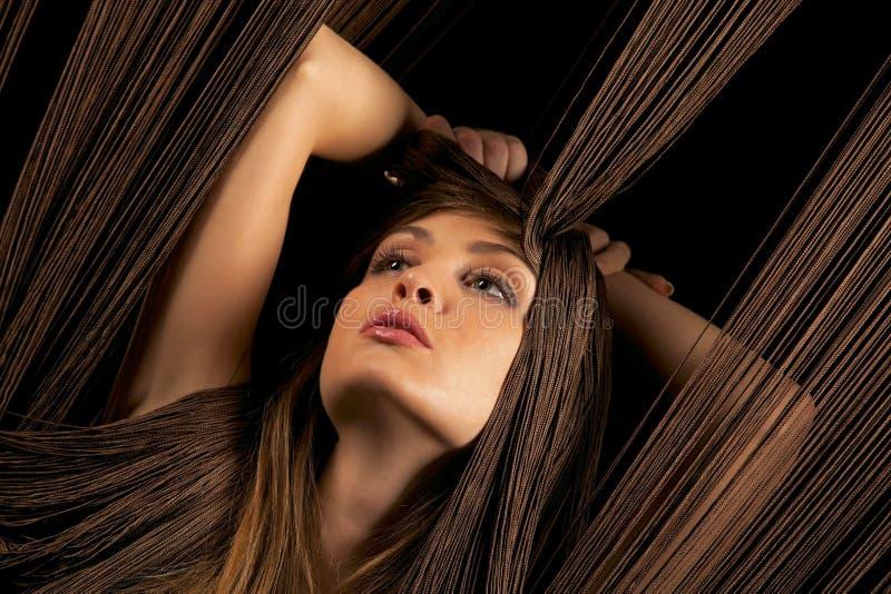 красивейшая женщина резьб стоковая фотография rf