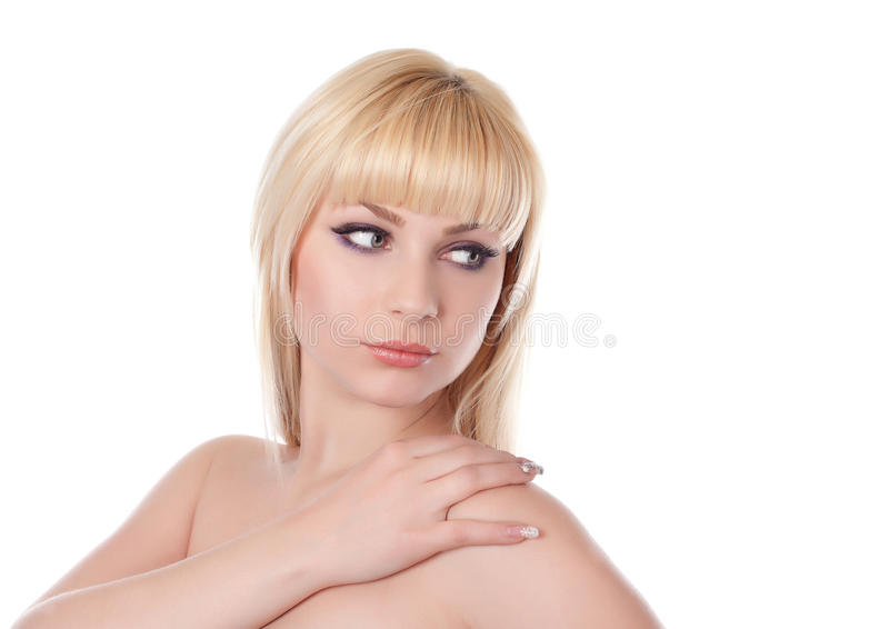 красивейшая женщина светлых волос стоковое фото
