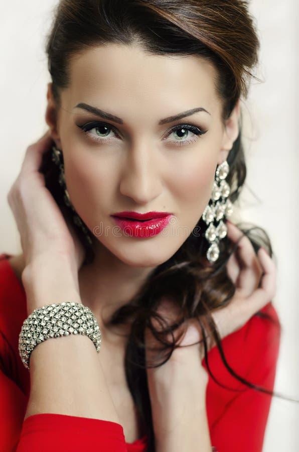 красивейшая женщина состава стоковые фотографии rf