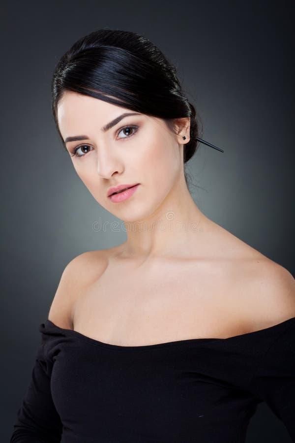 красивейшая женщина усмешки стоковая фотография rf