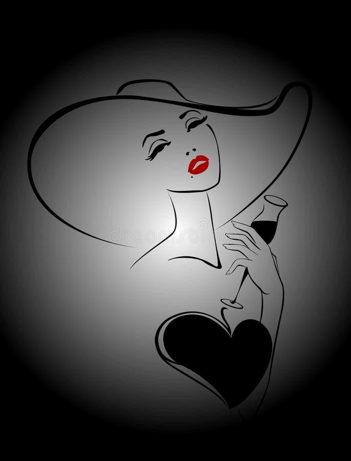 красивейшая женщина иллюстрация штока