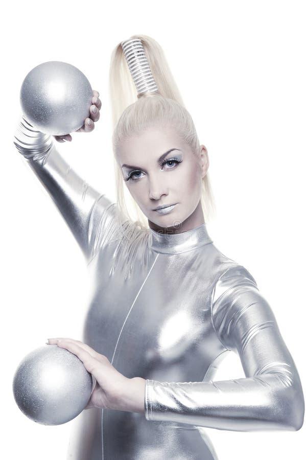 красивейшая женщина cyber стоковое изображение rf