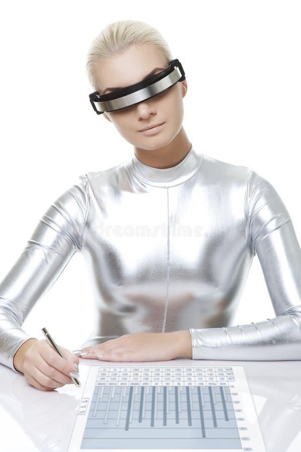 красивейшая женщина cyber стоковые изображения