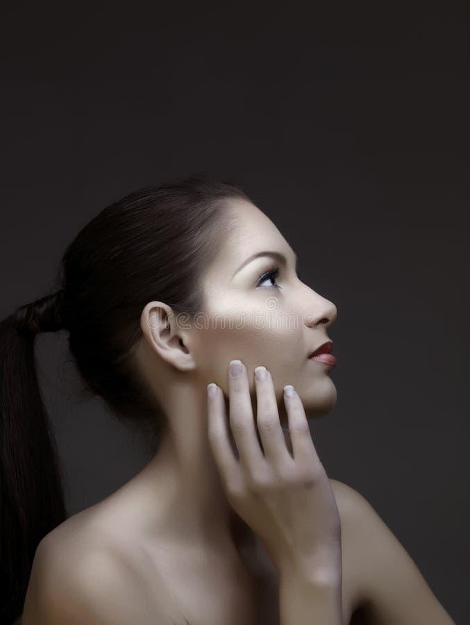красивейшая женщина ponytail стоковые фотографии rf