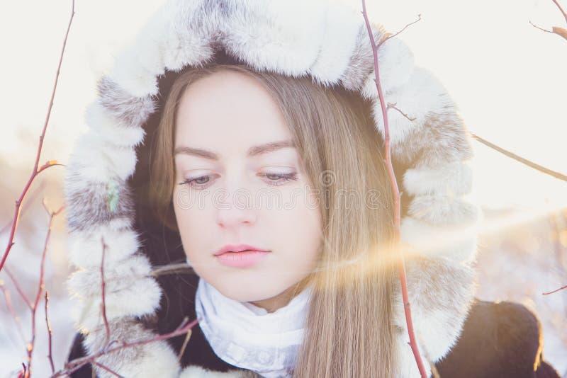 красивейшая зима девушки стоковая фотография rf