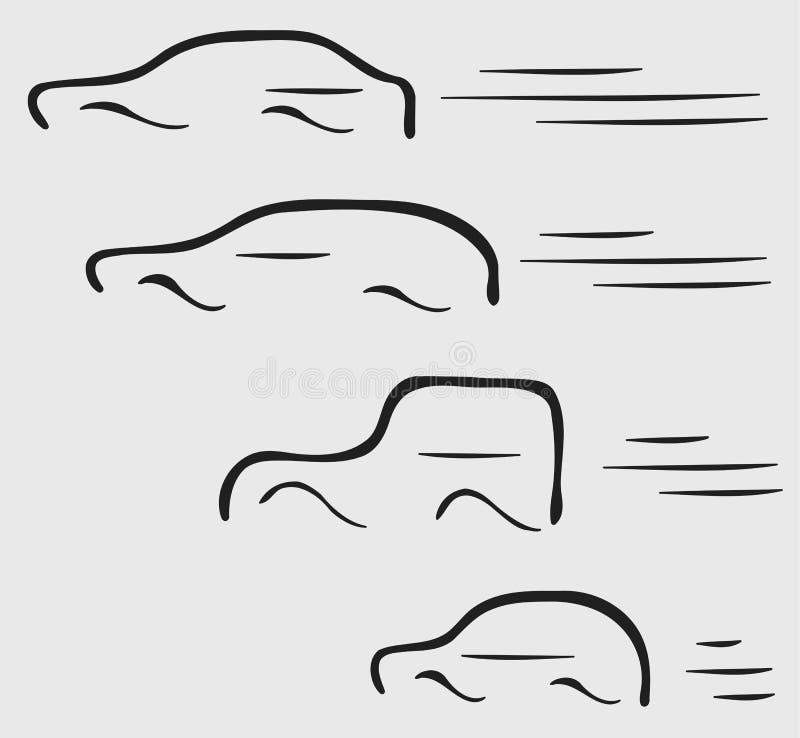 красивейшая иллюстрация автомобилей иллюстрация вектора