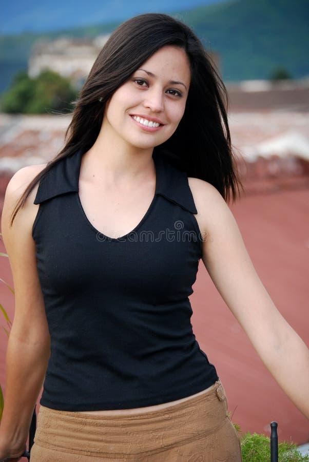 Красивейшая испанская молодая женщина стоковая фотография rf