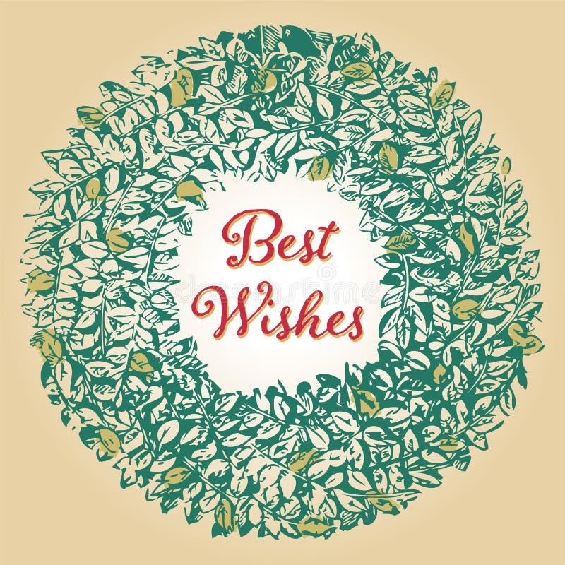 красивейшая иллюстрация архива eps рождества карточки 8 включила сбор винограда вала иллюстрация штока