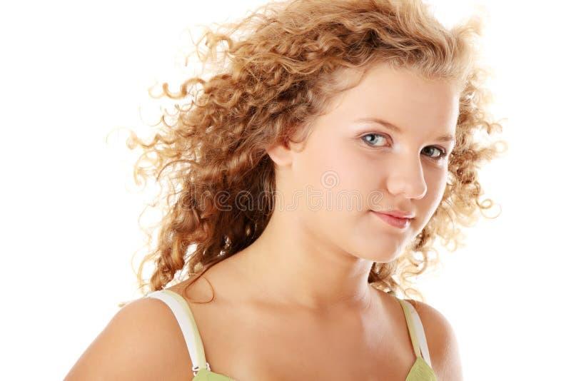 красивейшая кавказская девушка pudgy стоковая фотография