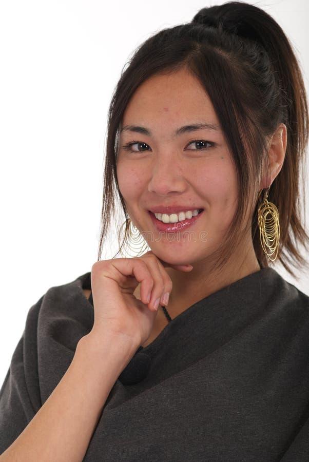 красивейшая китайская женщина портрета стоковое изображение