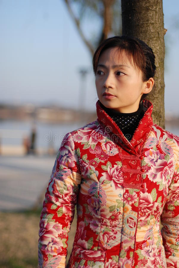 красивейшая китайская женщина стоковые фотографии rf