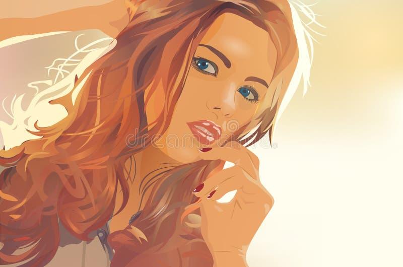 красивейшая красотка eyes женщина портрета природы состава естественная бесплатная иллюстрация