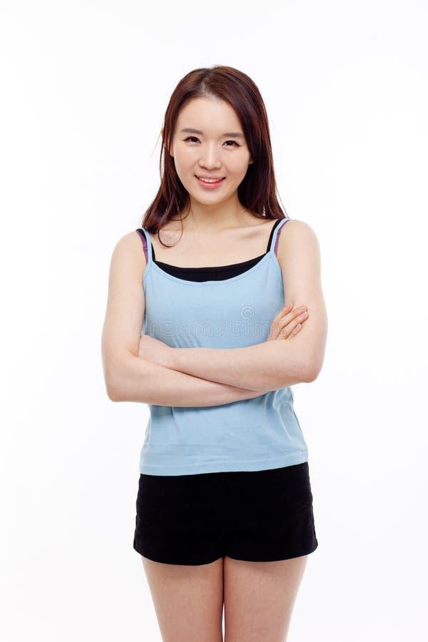 Красивейшая молодая азиатская дама стоковая фотография rf