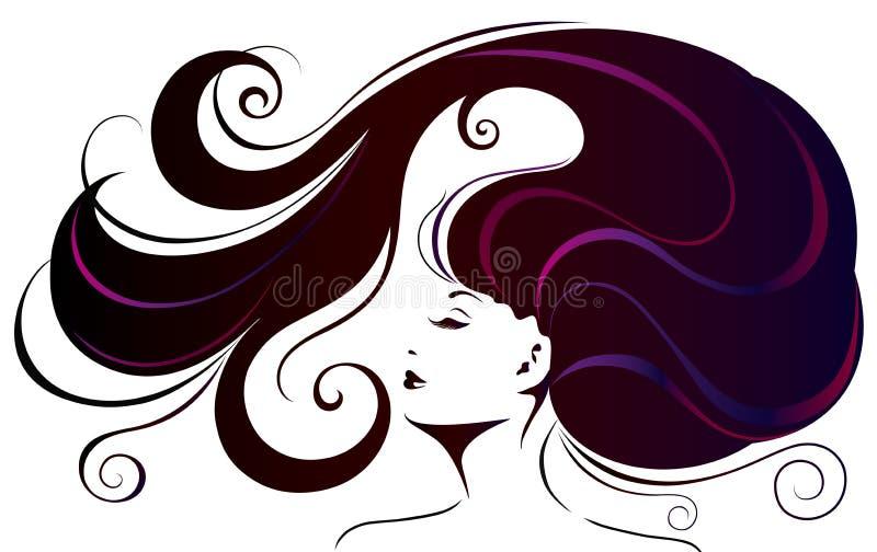 Красивейшая молодая женщина. иллюстрация вектора