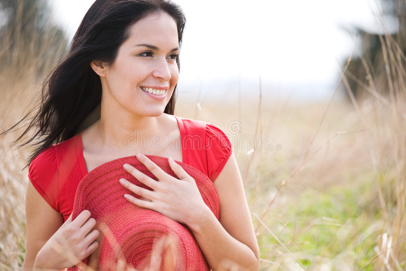 красивейшая напольная женщина лета стоковое изображение