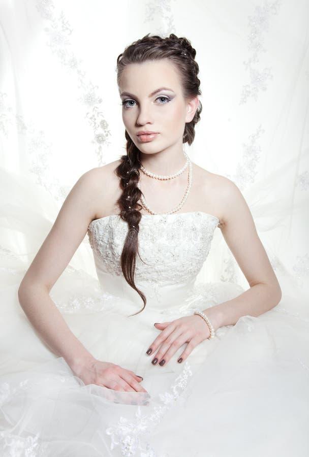 красивейшая невеста очень стоковое изображение rf