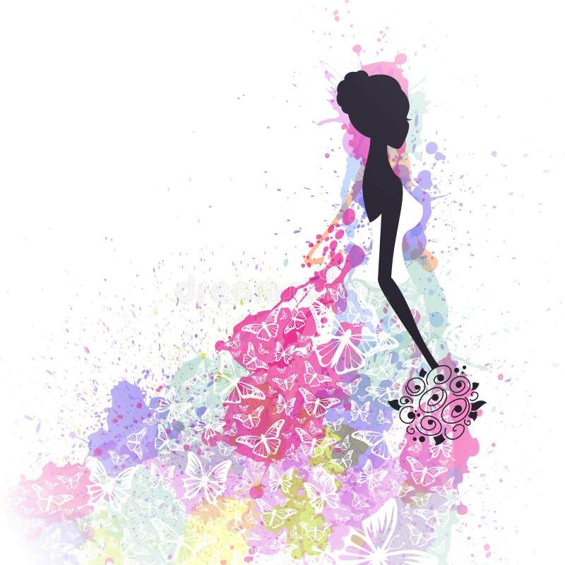 красивейшая невеста иллюстрация штока
