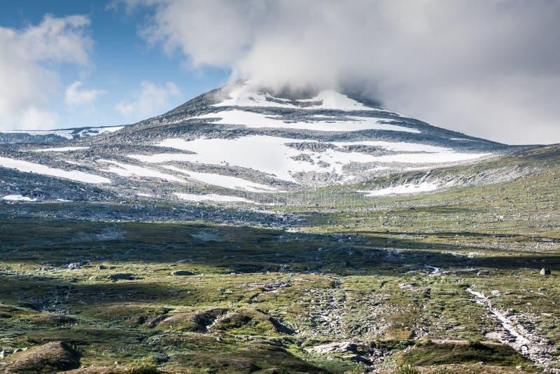 красивейшая долина troll трассы Норвегии стоковые изображения