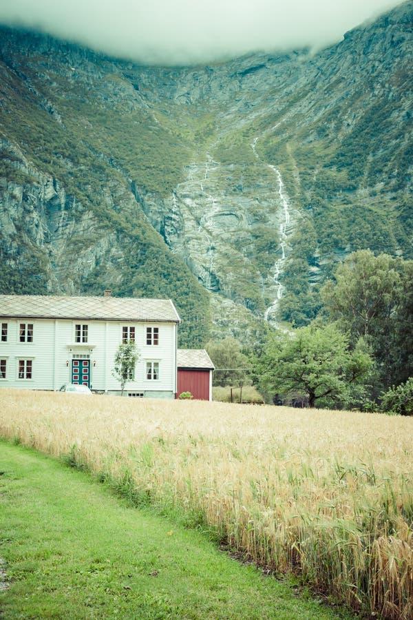 красивейшая долина troll трассы Норвегии стоковое изображение