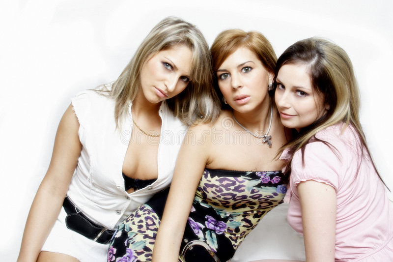 красивейшая партия девушок стоковые фотографии rf