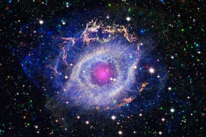 Красивейшая предпосылка космоса Искусство Cosmoc Элементы этого изображения поставленные NASA стоковые изображения