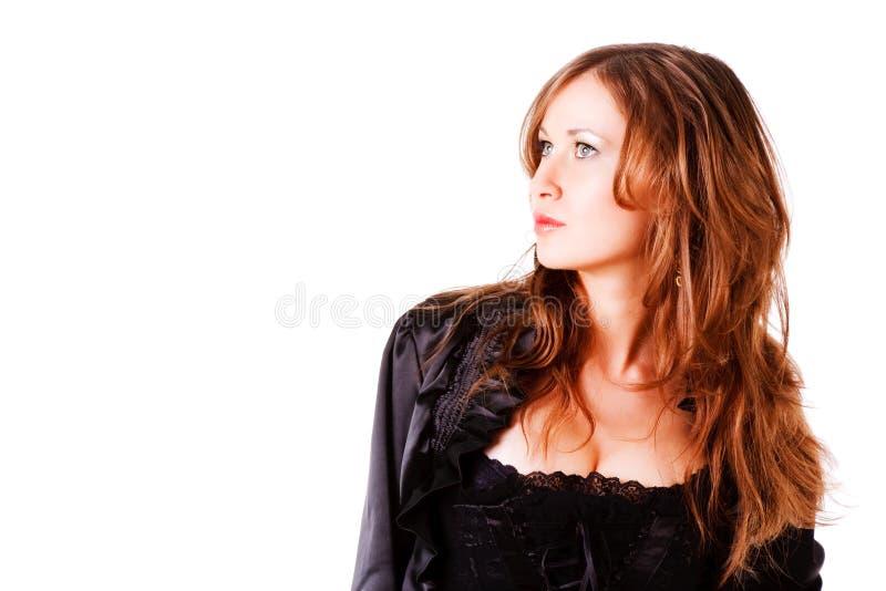 красивейшая прелестно куртка девушки скромная стоковое изображение