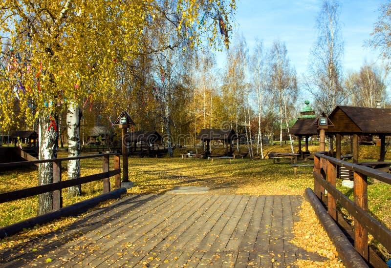 Красивейшая природа, осень в стране стоковые фото