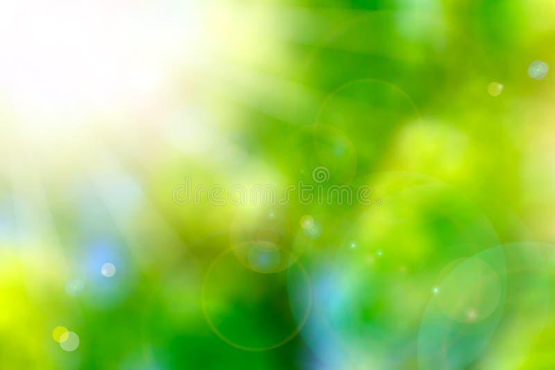 Красивейшая природа Bokeh. Предпосылка природы нерезкости иллюстрация вектора