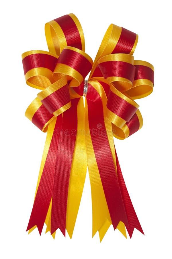 красивейшая сатинировка подарка смычка стоковое изображение rf