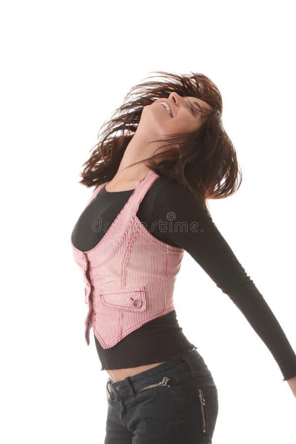 красивейшая скача женщина стоковые фото