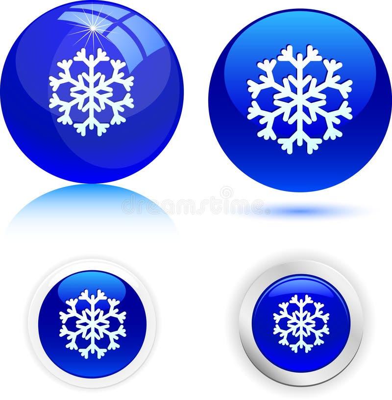 красивейшая снежинка иллюстрация вектора