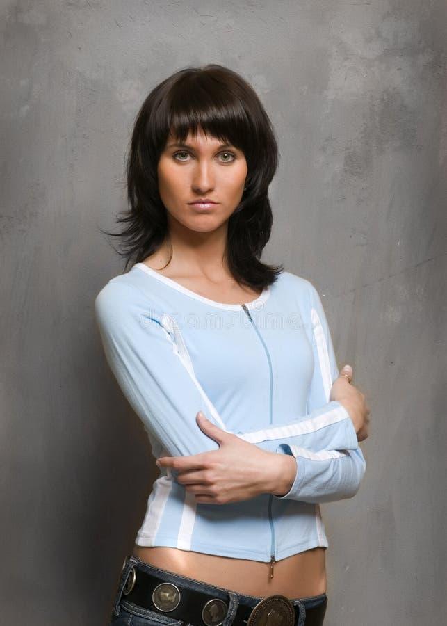 красивейшая уверенно сексуальная женщина стоковое фото rf