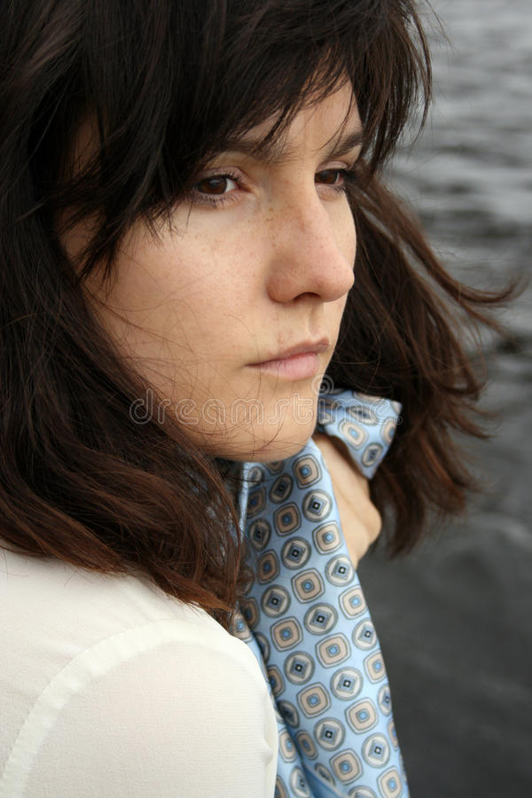 Красивейшая унылая женщина стоковая фотография