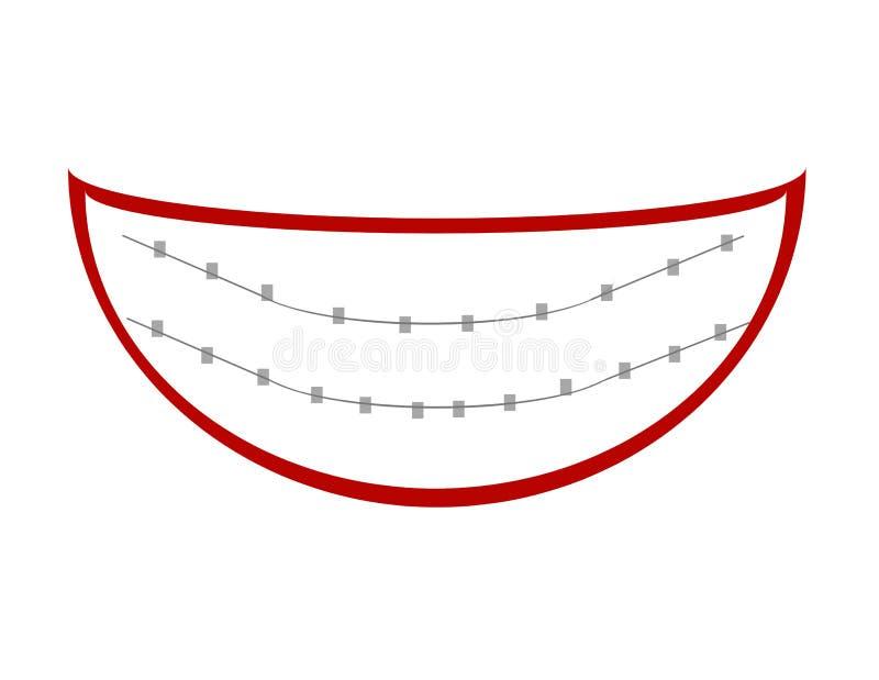 красивейшая усмешка иллюстрация вектора
