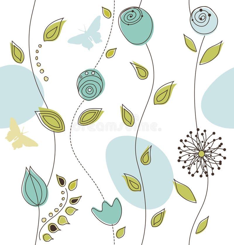 красивейшая флористическая картина безшовная иллюстрация вектора