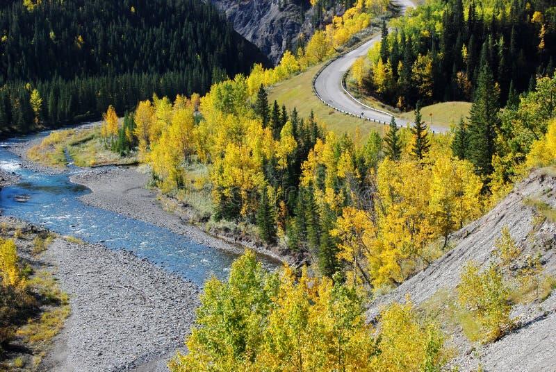 красивейшая форма реки хайвея стоковые фото