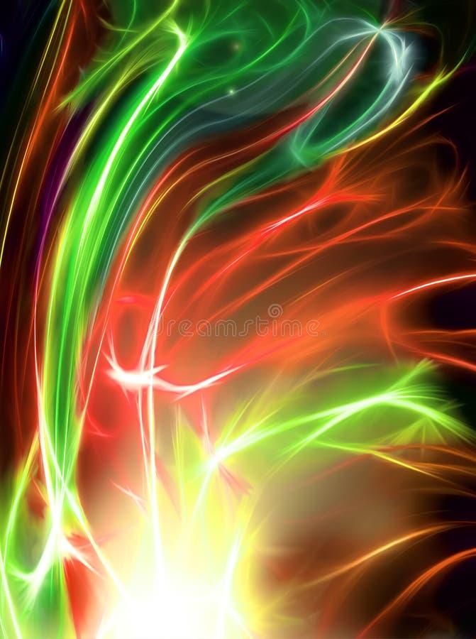 красивейшая фракталь феиэрверка иллюстрация вектора