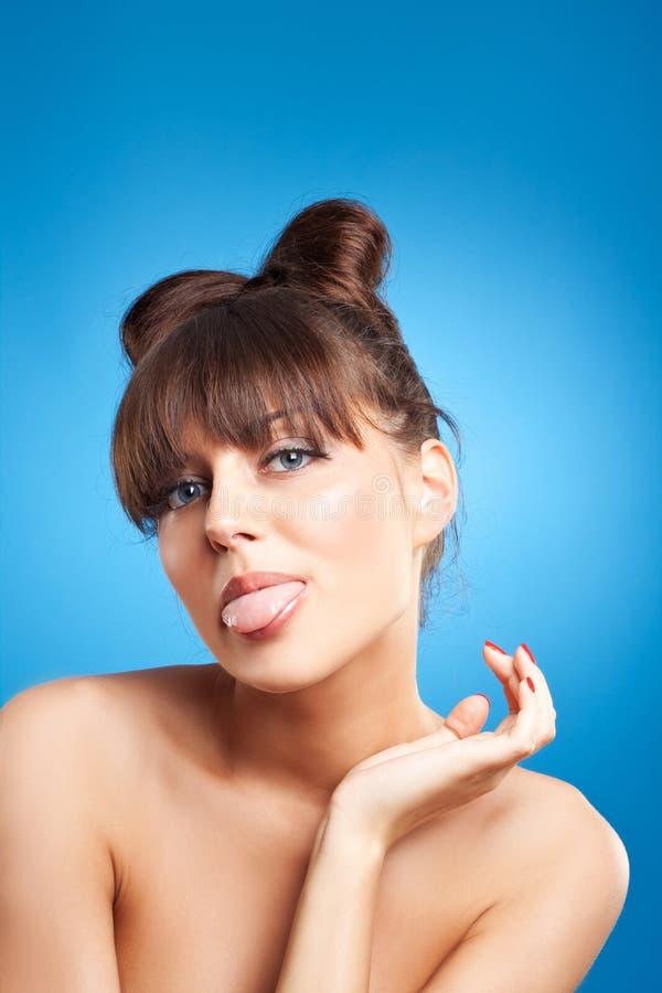 красивейшая чистая женщина кожи стороны стоковые фотографии rf