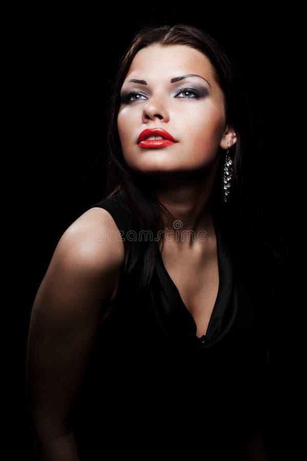 красивейшая шикарная женщина портрета стоковое изображение rf